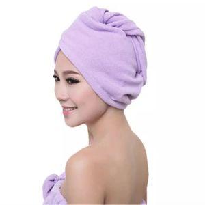 Purple Microfiber Quick Drying Hair Turban